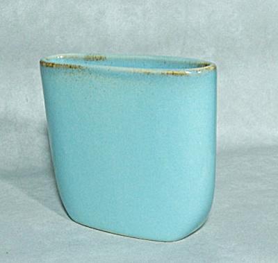 Ballard midcentury blue #24 oblong vase (Image1)