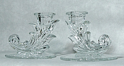 Fostoria Baroque Shirley Etch candleholders (Image1)