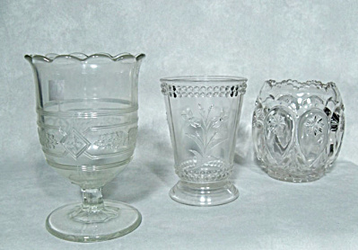 EAPG Trio of pattern glass crystal spooners (Image1)