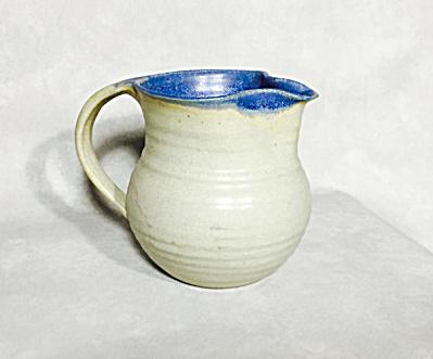 George Scatchard blue glazed signed jug (Image1)