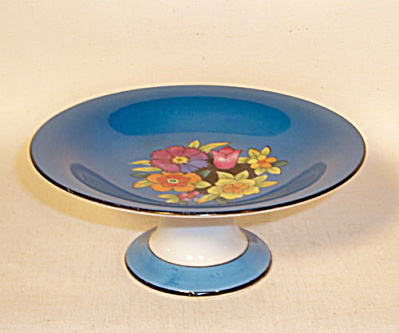 Noritake blue floral Deco compote (Image1)