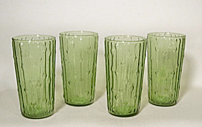 Anchor Hocking 4 Tahiti green 12 oz glasses (Image1)