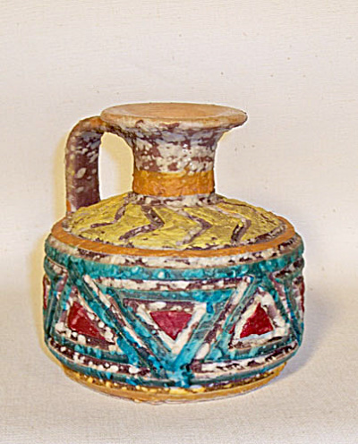 Toscany Empoli red triangle incised ewer (Image1)