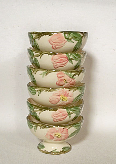 set 6 Franciscan China Desert Rose sherbets (Image1)