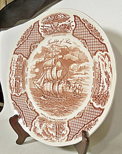 Set 8 Meakin Fair Winds dinner plates (Image1)