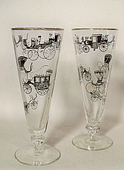 pair vintage pilsner roadster coach glasses (Image1)