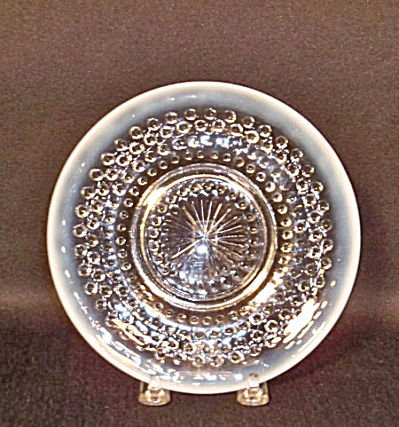 Hocking Moonstone set 5 sherbet plates (Image1)