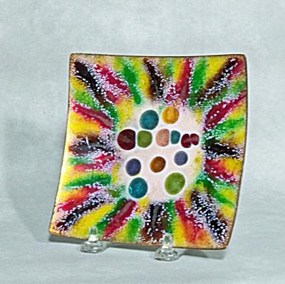 Harold Tischler 5 inch square jewel bowl (Image1)