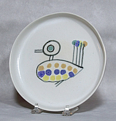 David Gil Bennington  #1240 Funky Bird plate (Image1)