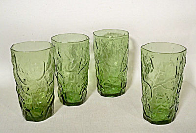 set 4 Morgantown Crinkle moss green tumblers (Image1)