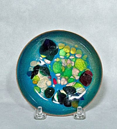 Win Ng 4.5 Inch Blue Jewel Small Dish