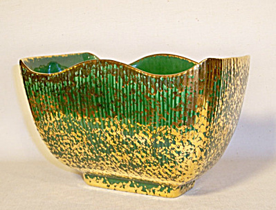 Yona Ceramics Siamese green gold planter (Image1)