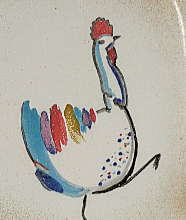 Ballard # 67 8  inch wide Rooster plate (Image1)