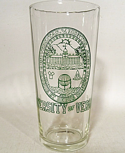 University of Vermont vintage tall tumbler (Image1)