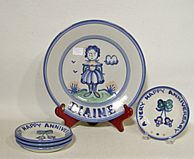 set M. A. Hadley coasters and a bonus plate (Image1)