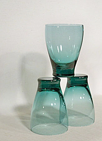 3 Russel Wright Am Glass Juice Tumblers