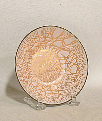 Tischler small low pink gold bowl signed (Image1)