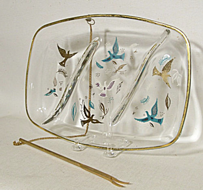 Georges Briard Paradise Relish tray with Fork (Image1)