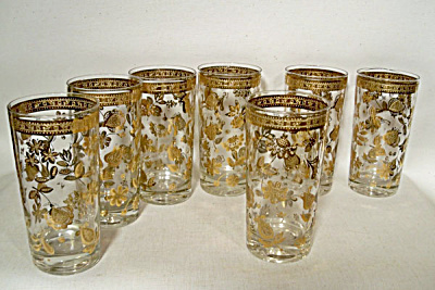 set 7 Culver Chantilly 5.5 inch flat tumblers (Image1)