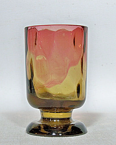 Amberina art glass footed toothpick holder (Image1)