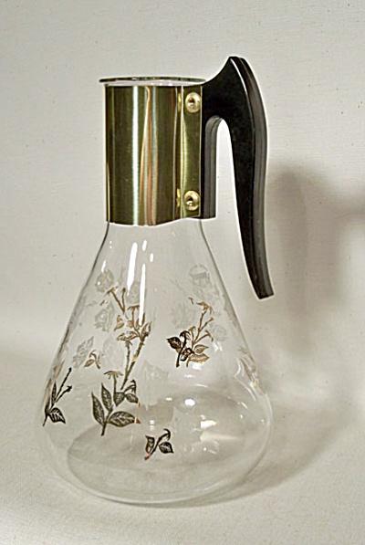 Fred Press Corning Pyrex carafe Roses no lid (Image1)