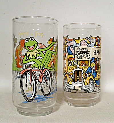 pair McDonalds 1981 Muppet Caper movie glass (Image1)