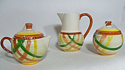 Vernon Kilns Homespun sugar creamer pitcher (Image1)