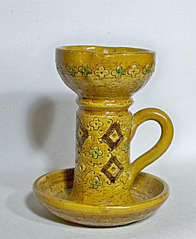 Bitossi yellow Spagnolo Londi candleholder (Image1)