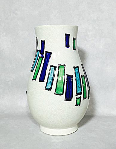 Bagni Rosenthal Netter Green Blue Spiral Vase Italian Midcentury