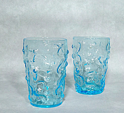 Bryce El Rancho aqua blue juice glasses (Image1)