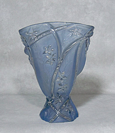 Consolidated Glass Line 700 blue wash vase (Image1)