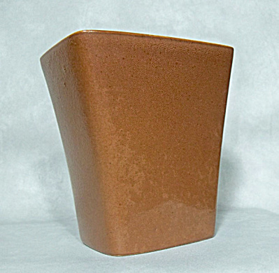 Ballard #19 early chocolate brown glazed vase (Image1)