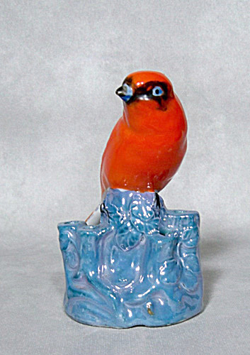 Noritake Deco Figural Red Bird Flower Frog