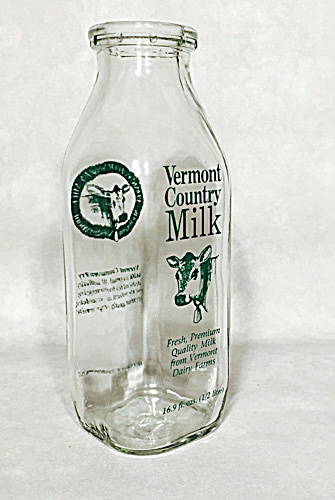 Vermont Country Milk Green Pyro 1990s Bottle
