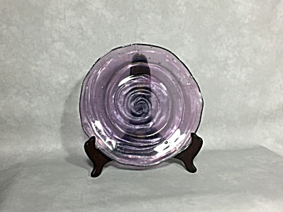 Consolidated 1927-1932 Catalonian amethyst #1112 8 inch salad plate (Image1)