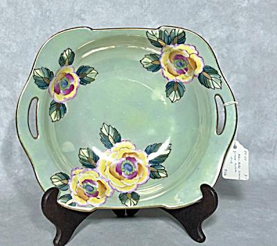 Noritake Deco green luster floral bowl (Image1)