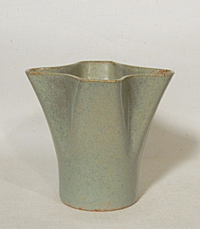 Ballard Early #15 4 Lobed Celadon Green Vase