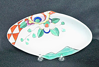 Noritake Art Deco Abstract floral dish (Image1)