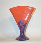 Click here to enlarge image and see more about item 1015: Czech Kralik glass: 8.5 inch tall fan vase