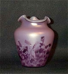 Click here to enlarge image and see more about item 1755: Loetz 4 inch lavender cased glass vase