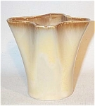 Click here to enlarge image and see more about item 2417: Ballard #25 mustard yellow lobed vase