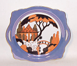 Click here to enlarge image and see more about item 2960: Noritake Deco Bridge scene cake plate