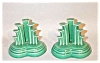Click to view larger image of Fiesta Vintage green tripod candleholders (Image2)