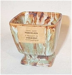 Ballard pottery #21 3' footed planter wild glaze! It is signed 21 and has the incised S.Ballard Vermont mark. Great glaze on this footed pedestal piece, almost a Rockingham glaze. Has the original Ballard paper label as well.  Excellent condition