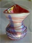 """Terry Crider started his glasswork in 1976. He is self taught. This studio glass artist has put out a limited amount of work over the past 31 years. He uses NO MOLDS and his only help has been his wife Donna. I had an email from Terry and Donna a few years ago stating that he doesn't think it would be fair to the collectors to make any of the same things again. They have decided, if they do make glass again, they are not going to make anything that they have made in the past. He made glass part time from 1988-2000. In 2005, he began again to produce a limited amount of glass. He's a great artist with VERY few early pieces out there. This toothpick is in mint condition and is signed and dated 1980 on the base.    This Crider 1980 JIP red white blue threaded  is hand blown cased glass - white with blue feathering on the outside and a pretty deep red on the inside. Then, to add to its beauty, it is threaded with very fine red threads around the body of the glass. It's hard to imagine the amount of work that went into this beautiful, hand made toothpick holder.    This little toothpick holder stands about 3"""" high at its highest point. It is a fantastic piece of art! It is in perfect condition."""