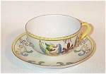 Click here to enlarge image and see more about item 4095-7: Noritake Deco VP 771 motif griffin cup saucer