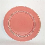Harlequin 7 inch rose plate. This size of Harlequin plate keeps getting harder and harder to locate these days. It was introduced in this color in 1940. This one is in excellent condition with good strong glazing and color. 