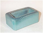 "This Glidden turquoise matrix planter is signed with the incised name Glidden and #104 (no ram). It stands 2"" tall x 4 1/4"" long x 2 3/8"" wide.  It matches many of his taller vases down in this trademark glaze. It is in excellent condition. A diminuitive example of this Alfred University master potter's work. Add it to your Mid-Century art pottery collection today."