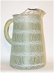 "Click here to enlarge image and see more about item 4271: Funky 9"" spaghetti strand green pitcher"