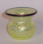 Click to view larger image of Crider bulbous 2006 vaseline toothpick holder (Image1)